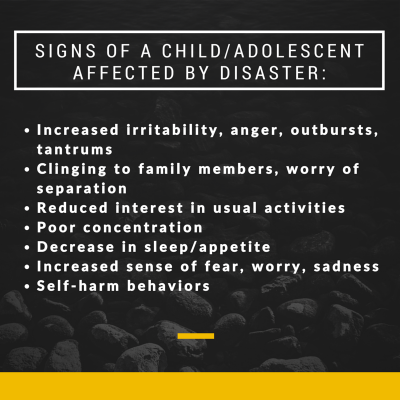 SIGNS OF A CHILD ADOLESCENT AFFECTED BY