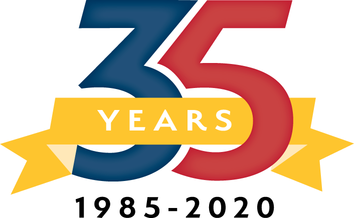 35th Year Anniversary Badge
