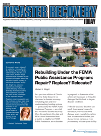 Rebuilding under the FEMA Public Assistance Program
