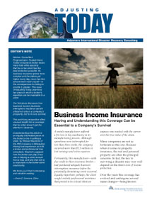 Adjusting Today - Business Income Insurance: Business Income Insurance