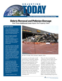 Adjusting Today - Debris Removal and Pollution Damage: Debris Removal and Pollution Damage