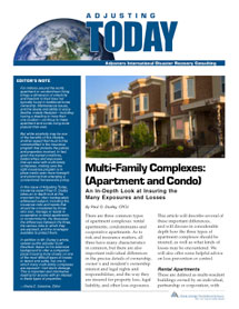 Adjusting Today - Multi-Family Complexes (Apartment and Condo): Multi-Family Complexes (Apartment and Condo)