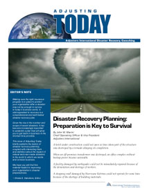 Adjusting Today - Disaster Recovery Planning: Disaster Recovery Planning