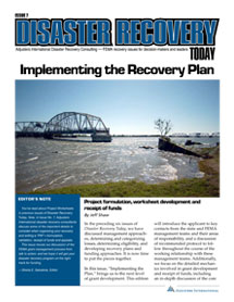 Implementing the Recovery Plan