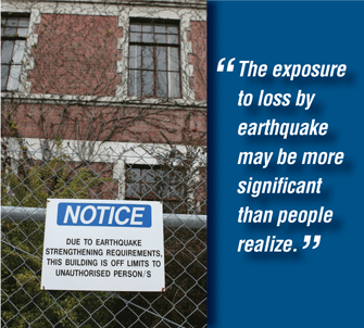 The exposure to loss by earthquake may be more significant than people realize