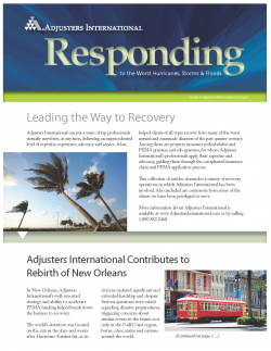 Responding to the Worst Disasters - Responding to the Worst Hurricanes, Storms & Floods: Responding to the Worst Hurricanes, Storms & Floods
