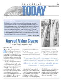 Adjusting Today - Agreed Value Clause: Agreed Value Clause