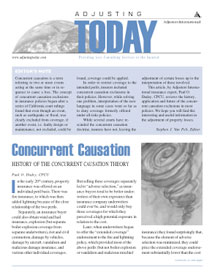 Adjusting Today - Concurrent Causation: Concurrent Causation