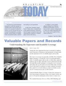 Adjusting Today - Valuable Papers and Records: Valuable Papers and Records