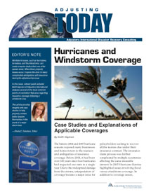 Adjusting Today - Hurricanes and Windstorm Coverage: Hurricanes and Windstorm Coverage
