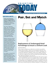 Adjusting Today - Pair, Set and Match: Pair, Set and Match