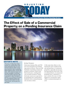 The Effect of Sale of a Commercial Property on a Pending Insurance Claim