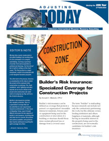Adjusting Today - Builder's Risk Insurance: Builder's Risk Insurance