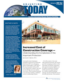 Adjusting Today - Increased Cost of Construction Coverage: Increased Cost of Construction Coverage
