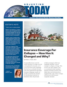 Adjusting Today - Insurance Coverage For Collapse: Insurance Coverage For Collapse