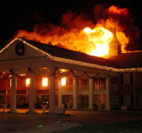 Arsonist Fire Threatens Hotel Business