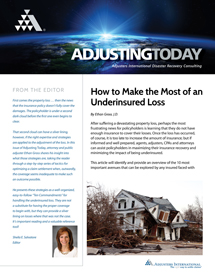 Adjusting Today - How to Make the Most of an Underinsured Loss: How to Make the Most of an Underinsured Loss