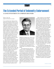 Adjusting Today - The Extended Period of Indemnity Endorsement: The Extended Period of Indemnity Endorsement