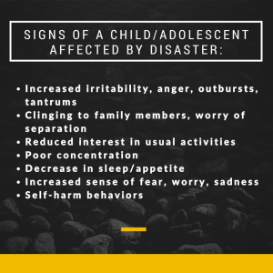 SIGNS OF A CHILD-ADOLESCENT AFFECTED BY