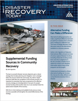 Supplemental Funding Sources in Community Recovery