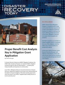 Proper Benefit Cost Analysis Key in Mitigation Grant Application