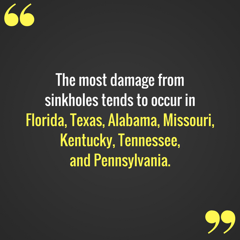 Property Damage Insurance Claims - Sinkholes