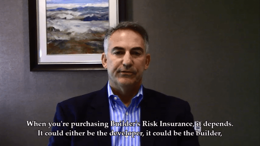 Which party is responsible for purchasing Builder's Risk Insurance?
