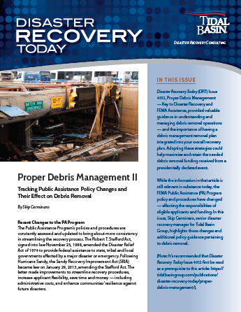 Disaster Recovery Today Proper Debris Management
